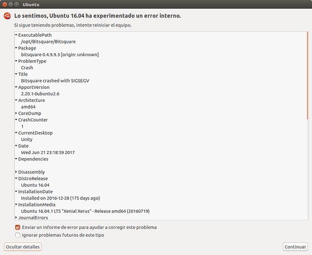 Bitsquare don't opens (Ubuntu 16 04) - Support - Bisq
