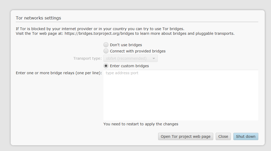 Set up , How to with Tor Bridges - Support - Bisq